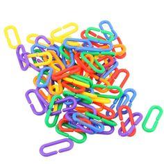 100pcs Colorful Plastic C-clips Hooks Chain C-links Parrot Bird Toy Parts | Pet Supplies, Bird Supplies, Toys | eBay!