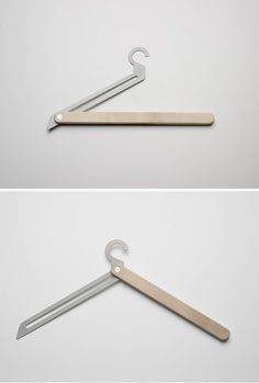 T-hanger by Jennifer Rabatel Id Design, Smart Design, Clever Design, Cool Designs, Support Mural, Minimalist Home Decor, Coat Hanger, Design Furniture, Industrial Design