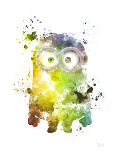 Hey, I found this really awesome Etsy listing at https://www.etsy.com/listing/204228280/minion-despicable-me-art-print-10-x-8