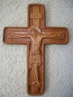 Byzantine Wall Aromatic Cross Crucifix made with pure beeswax mastic and incense Jesus Christ