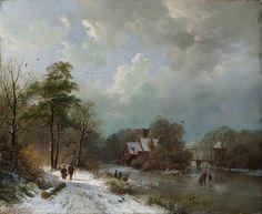 Winter Landscape, Holland Barend Cornelis Koekkoek, 1833