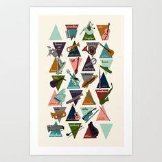 Alphabet of Instruments Art Print by Andrea Lauren - $16.00