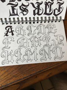 Lettering Styles Alphabet, Tattoo Lettering Design, Graffiti Lettering Alphabet, Tattoo Fonts Alphabet, Chicano Lettering, Graffiti Writing, Doodle Alphabet, Letras Tattoo, E Mc2