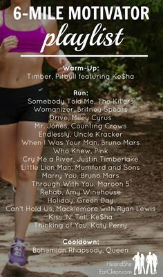 Need a playlist to help get you through a six mile or longer run? Look no further