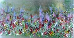 Floral fused glass