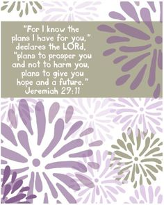 I know His plans are greater than mine could ever be!