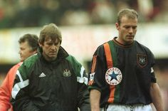 Newcastle United manager Kenny Dalglish and centre-forward Alan Shearer in March 1998