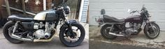 Ni. My 1980 Suzuki GS850 before and after (after and before as pictured)