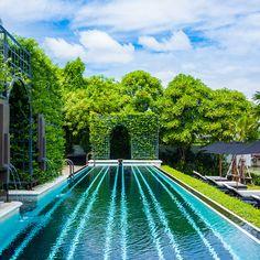The pool at The Siam Hotel Bangkok