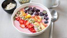 Be My Healthy Valentine Smoothie Bowl Quick Dinner Recipes, Side Recipes, Brunch Recipes, Whole Food Recipes, Epicure Recipes, Healthy Crockpot Recipes, Easy Healthy Dinners, Cooking Recipes, Smoothie Bol