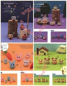 Japanese Bead Craft Pattern Book 3D Beading MARU Animal Doll Mascot