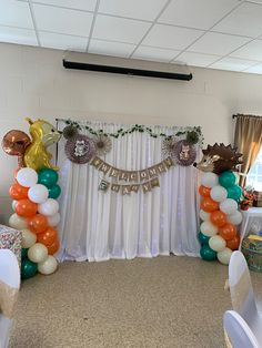 Woodland Critters, Balloon Columns, Balloon Decorations, Balloons, Baby Shower, Babyshower, Globes, Balloon, Baby Showers