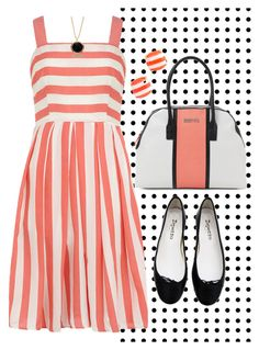 """""""sherbet"""" by paperdollsq ❤ liked on Polyvore featuring Kenneth Cole Reaction, Dorothy Perkins, Kate Spade, Marlin Birna and Repetto"""