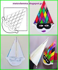 Με το βλέμμα στο νηπιαγωγείο και όχι μόνο....: Γαντόκουκλα-αρλεκίνος.Πατρόν Clown Crafts, Circus Crafts, Drawing Activities, Craft Activities, Diy And Crafts, Crafts For Kids, Arts And Crafts, Drawing For Kids, Art For Kids