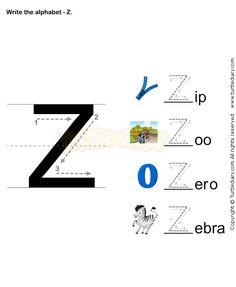 Letter Writing Z - esl-efl Worksheets - preschool Worksheets