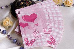 cute pink napkins wedding ślub wesele kolorowe serwetki papierowe