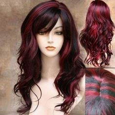 22 Best Honey Brown Hair Color Ideas for Light or Dark Hair in 2019 - Style My Hairs Ombre Wigs, Ombre Hair, Red Ombre, Blonde Hair, Red Hair Color, Color Red, Womens Wigs, Synthetic Wigs, Wig Hairstyles