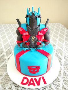 bolo-decorado-transformers Transformers Cake