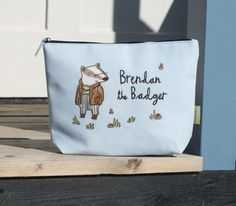 'Brendan The Badger' Children's Wash Bag