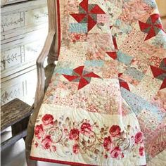 Choose the lap size Paris Market quilt pattern featured in McCall's Quick Quilts June/July 2012 issue, or the FREE queen size Web Bonus download. The sweet, feminine prints and florals bring such lovliness to the easy design. Stitch an instant heirloom with this quick, elegant quilt pattern.