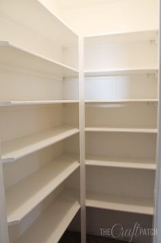How To Build Pantry Shelves. Home And Garden DIY Ideas ...