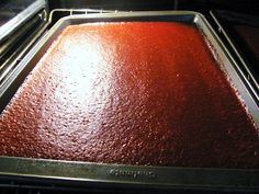 Sweet Domesticity: Rhubarb Fruit Leather with Strawberries, Honey, and Cinnamon