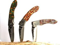 Pocket Knife with recycled skateboard handle by SecondShot on Etsy,$109.99