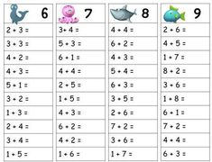 Tables d'addition - Modern Table Addition, Math Addition, 1st Grade Math Worksheets, First Grade Math, Math Resources, Math Activities, Montessori Math, Math School, School Items