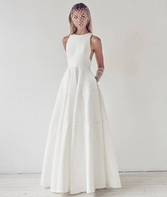 Sleeveless Ball Gown with a Bateau Neckline | Photo: Courtesy of Dimitra's Bridal Couture.