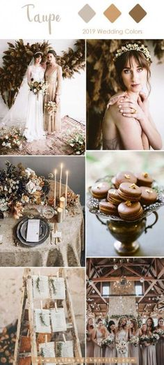 Top 10 Wedding Colors for 2019 Trends with Bridesmaid Dresses – Wedding Ideas Taupe Wedding, Neutral Wedding Colors, Wedding Color Schemes, Trendy Wedding, Dream Wedding, Fall Wedding, Neutral Tones, Boho Wedding, Wedding Gifts