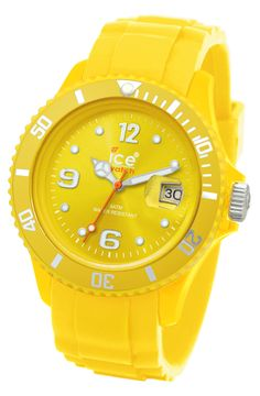 Ice yellow watch
