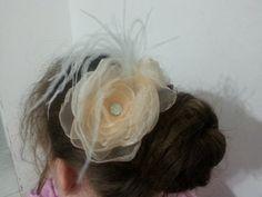 Graceful wedding decorations for #hair on the ridge. Handmade. Wedding hair ornament peach color . Delicate…