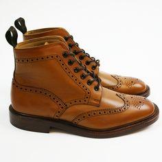 Loake Men's Burford Brogue Boots - Tan    http://www.countryattire.com/loake-men-s-burford-brogue-boots-tan.html?gclid=CIGr-OXf6rQCFQh66wod-UcA2A