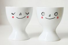 I think as a pair these make a nice wedding or anniversary gift, with the couple's names on the back.  Hand-painted porcelain egg cup listed in my Etsy shop (see profile for link). For a limited time only I'm offering to write a name or word on the b Make #Old  #valentine Collection for you  . Check out http://www.zazzle.com/lovewallpapers/gifts?ps=120&rf=238478323816001889