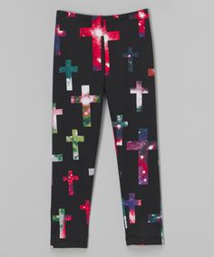Love this Dreaming Kids Black Galaxy Cross Leggings - Infant, Toddler & Girls by Dreaming Kids on #zulily! #zulilyfinds