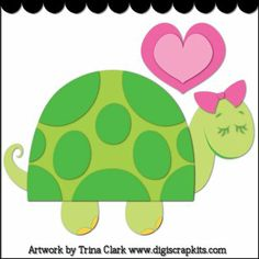 I Like Turtles 1 - Cutting File : Digital Scrapbook Kits, Cute Clip Art, Cutting Files, Trina Clark, Instant downloads, commercial use allowed, great prices.