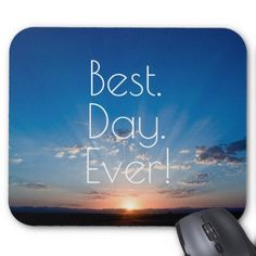 Sunrise New Day Dawning Mouse Pad - blue gifts style giftidea diy cyo