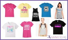 gymnastics gifts tshirts