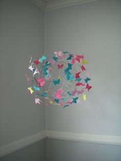 Nursery Butterfly Mobile Baby Mobile Children by ButterflyOrbs