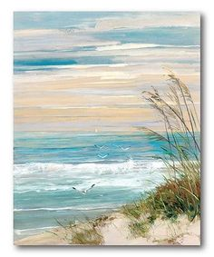 Designs Beach At Dusk handdekorierte Leinwand . - Aquarell -Artissimo Designs Beach At Dusk handdekorierte Leinwand . Beach Canvas Paintings, Painting Prints, Painting Canvas, Diy Painting, Canvas Frame, Canvas Wall Art, Acrylic Canvas, Art Plage, Art Encadrée
