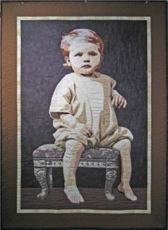 Bonnie Keller - Portrait Quilts - The Little Orphan.  From a photo of her mother.