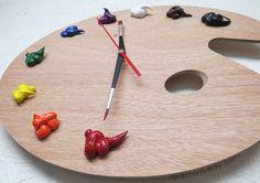 Artist Palette Wall Clock with 3D Paint Daubs Unique par RipdNTorn