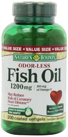 Nature S Bounty Fish Oil  Size