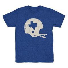 Football Helmet T-shirt (4 Color Options) – Tumbleweed TexStyles