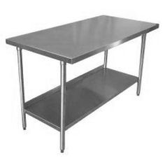 "In desperate need of work tables: 18 Gauge Stainless Steel Commercial Work Table 30"" x 60"" with Galvanized Undershelf and Legs"