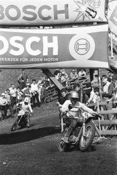 Bengt Aberg, winner, Austrian 500cc GP, Sittendorf. April 21, 1968