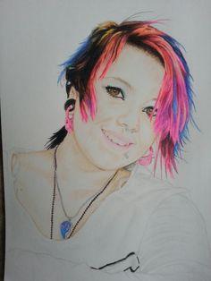 """Jade"" colored pencil portrait"