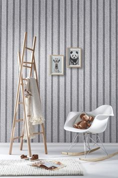 papier peint boiseries louis xv blanc gris wallpaper french trompe l 39 oeil by koziel for. Black Bedroom Furniture Sets. Home Design Ideas
