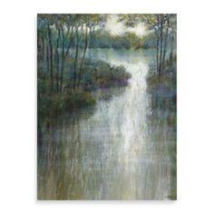 "Michael Longo ""Pond Reflections"" Canvas Art - BedBathandBeyond.com $80"