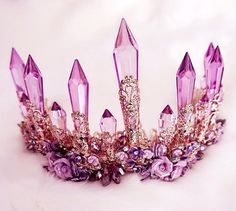 ☆+Type:+Baroque+Vintage+Amethyst+Crown ☆+Material:+Alloy,+Amythest+Crystal ☆+Care:+Wipe+With+Lightly+Damp+Cloth ☆+Note:+Do+Not+Use+Any+Harsh,+Alcohol-Based+Chemicals+As+This+May+Cause+Tarnishing ☆+Return+Policy. Cute Jewelry, Hair Jewelry, Jewellery, Fairy Crown, Mermaid Crown, Crystal Crown, Circlet, Bridal Crown, Festival Looks